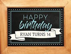 Framed Birthday Slideshow