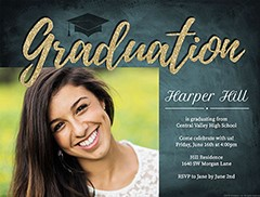 Graduation Cap Toss Invite