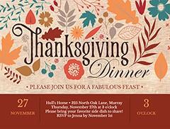 Free Thanksgiving Invite