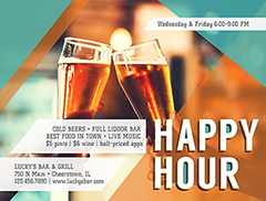 Happy Hour Flyer Promotion