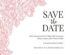Styled Save the Date Card