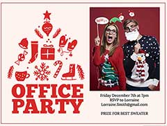 Christmas Party Invitation Email