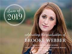 Classic Graduation Invitation
