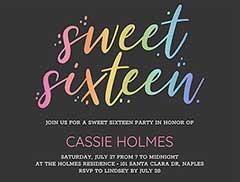sweet 16 birthday invitation template