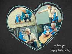 Father's Day Heart-Shaped Collage