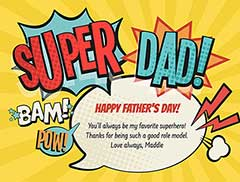Super Dad Card Father's Day Card