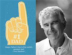 Number 1 Dad Card