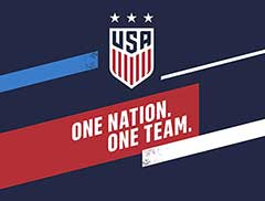 US Women's Soccer National Team Card Template