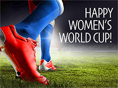 Happy Women's World Cup - Free Card Maker