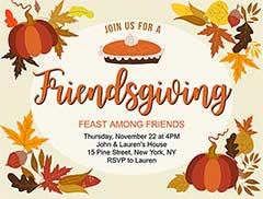 Free Friendsgiving Invitations