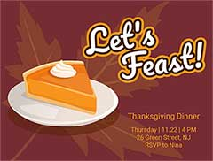 Thanksgiving Potluck Invite