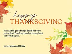Thanksgiving eCard Template
