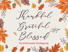 Thanksgiving Photo Slideshow