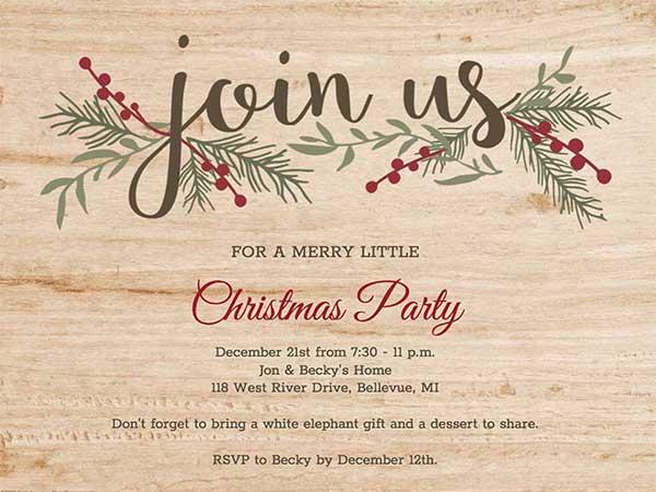 Christmas Invitation Maker Create Free Christmas